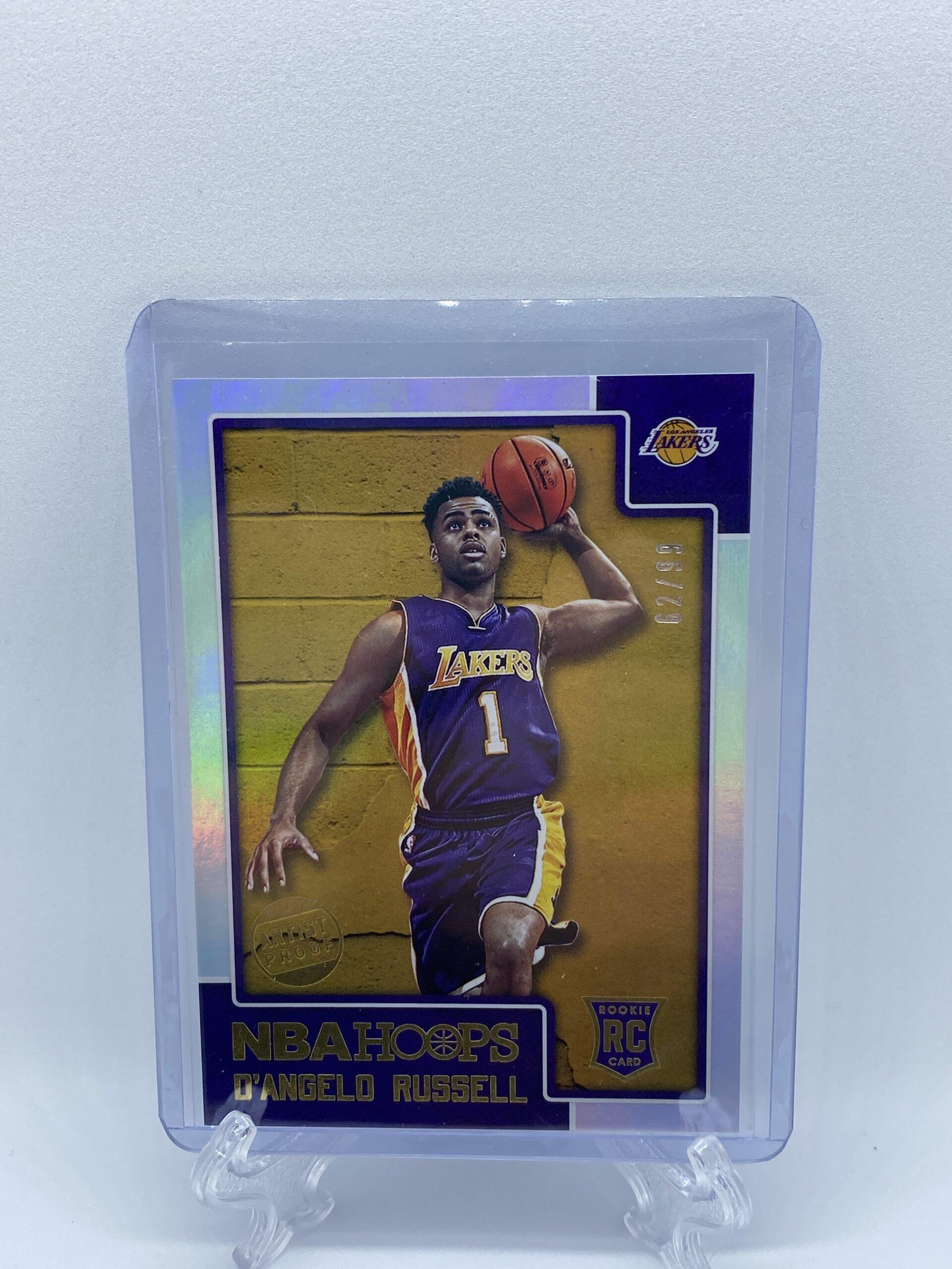 D'Angelo Russell NBA Hoops Rookie Card: Artist Proof Holo 62/99