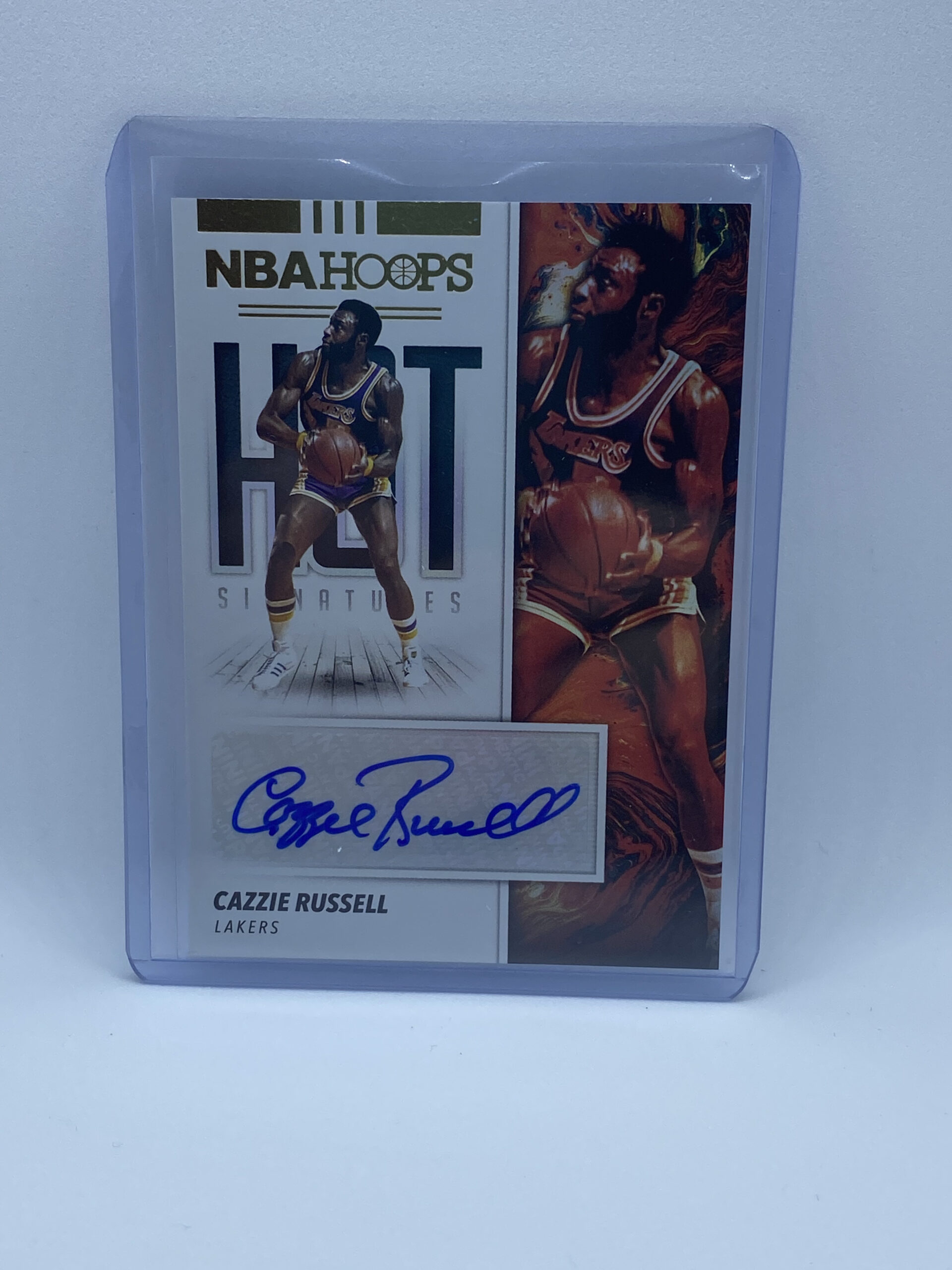 2019-20 NBA Hoops Basketball Hot Signatures #HS-CZR Cazzie Russell AUTO